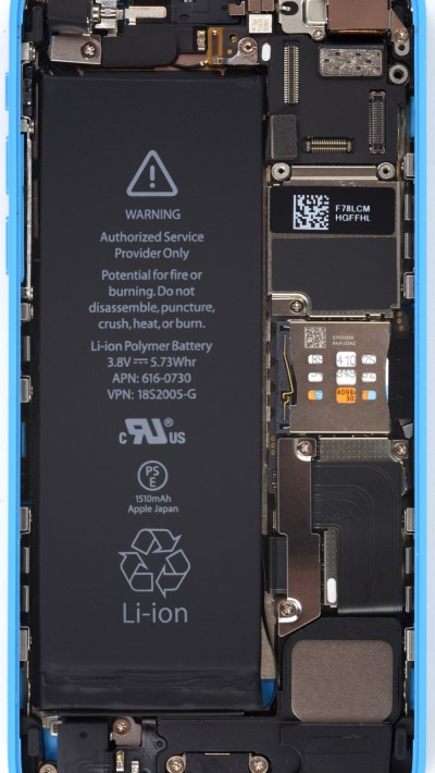 iFixit's internals-exposing wallpapers for the iPhone 5s/5c