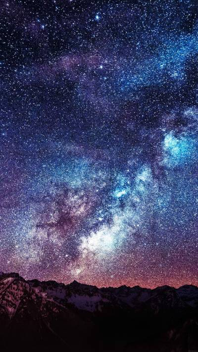 Space galaxy wallpapers for iPhone and iPad