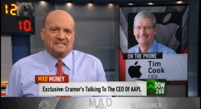 Tim Cook calls into CNBC's 'Mad Money', talks ResearchKit, Apple Pay and more