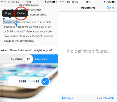 How to manage dictionaries and look up word definitions on iPhone and iPad