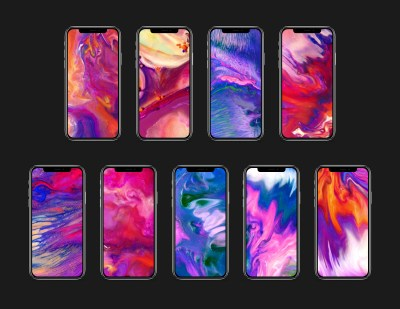 iPhone X marketing video wallpapers