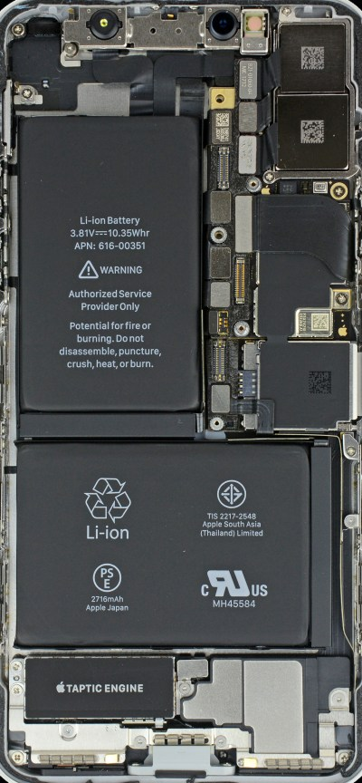 iPhone X internals wallpaper