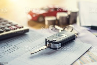 Car Key With Money And Calculator On Table Concept Finance And Insurance Stock Photo & More ...