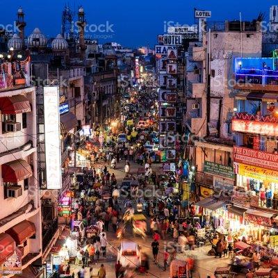 City Life Main Bazar Paharganj New Delhi India Stock Photo ...