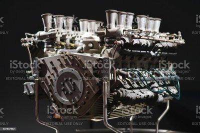 Classic V12 Engine From Racing Car stock photo | iStock
