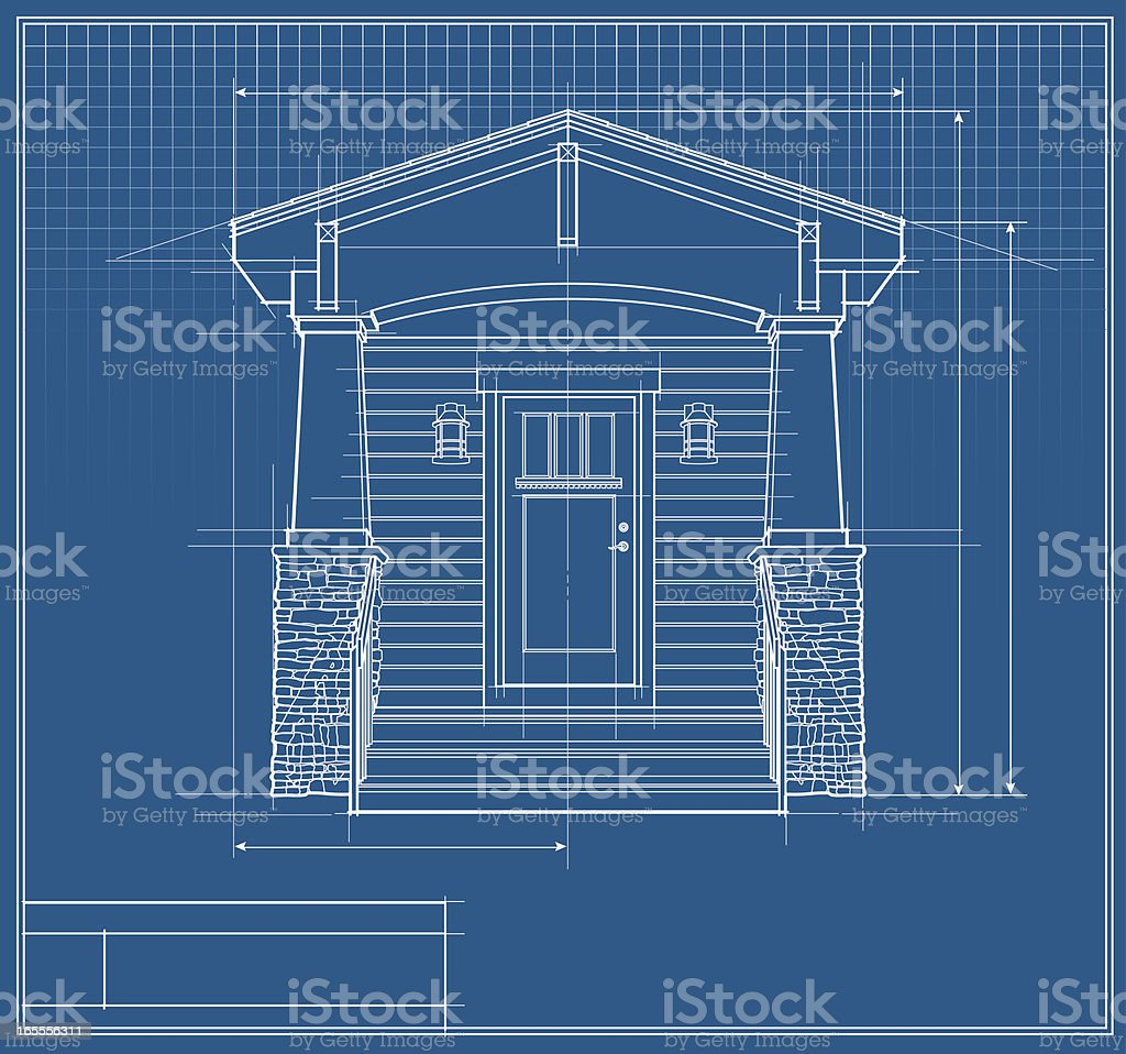 Architectural design blueprint vector house front elevation royalty architectural design blueprint vector house front elevation royalty free stock art malvernweather Gallery