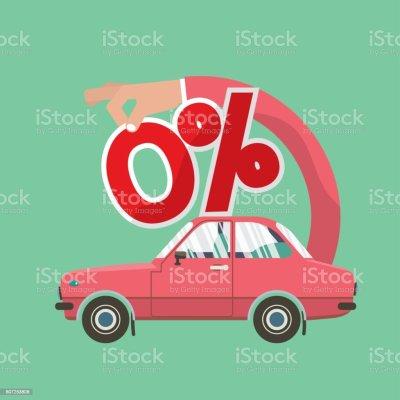 Zero Percent Car Loan Vector Illustration Stock Vector Art & More Images of Business 807253806 ...