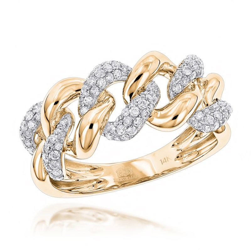 Large Of Gold Diamond Rings