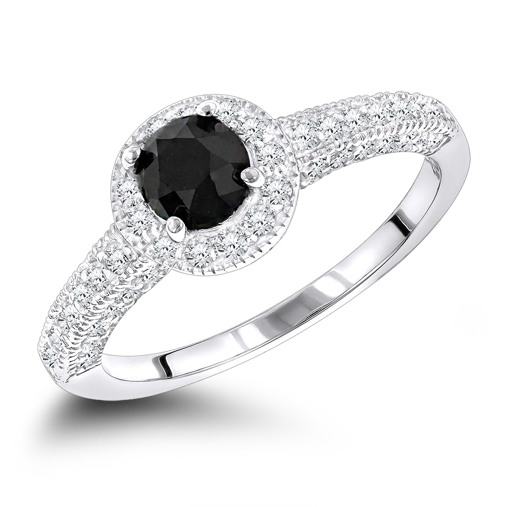 Fullsize Of Black Diamond Engagement Rings
