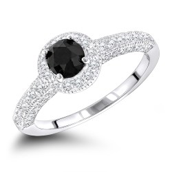Small Of Black Diamond Engagement Rings