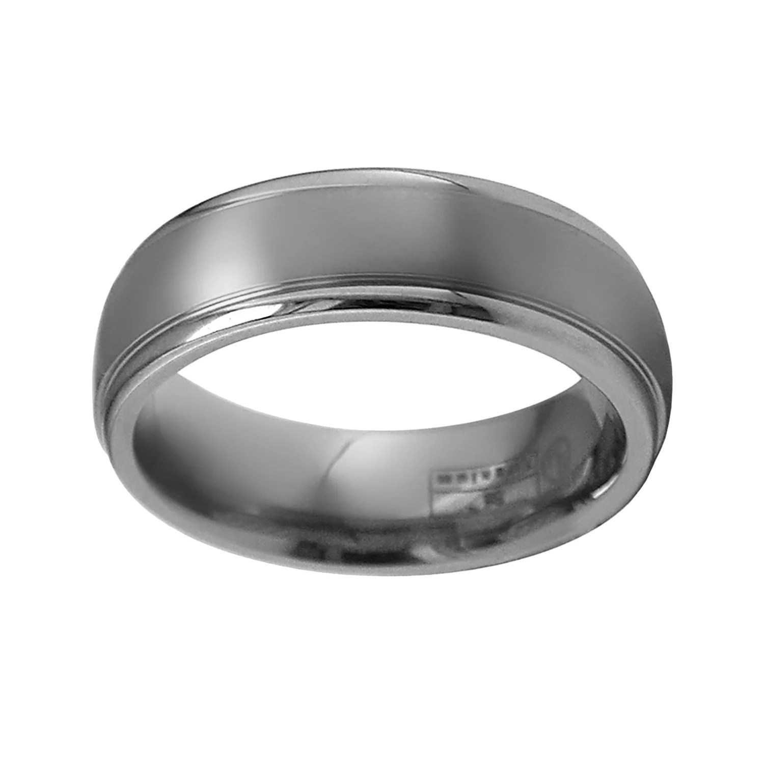 mens titanium wedding bands rings jewelry tungsten hammered wedding band STI by Spectore Gray Titanium Striped Wedding Band Men