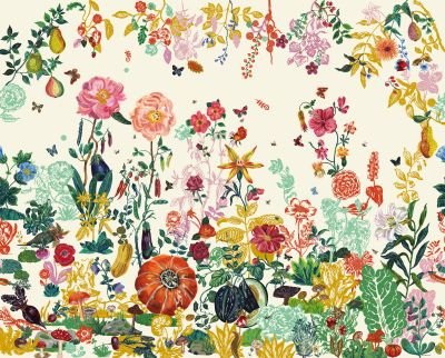 Jardin Wallpaper Cream garden by Domestic