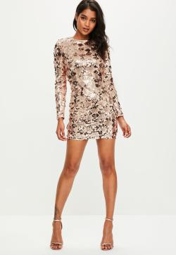 Small Of Gold Sequin Dress