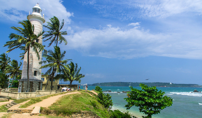 beautiful view of a tower in galle, sri lanka