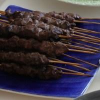 Marinerad rostbiff till grillspett