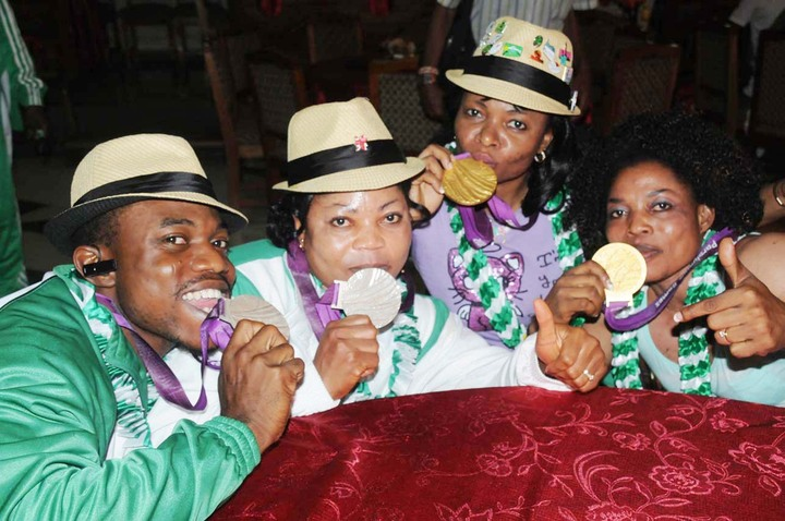RECEPTION FOR NIGERIAN PARALYMPIC HEROES IN LAGOS