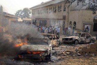 St. Thereasa Catholic Church Madalla, after a Christmas Day Boko Haram attack