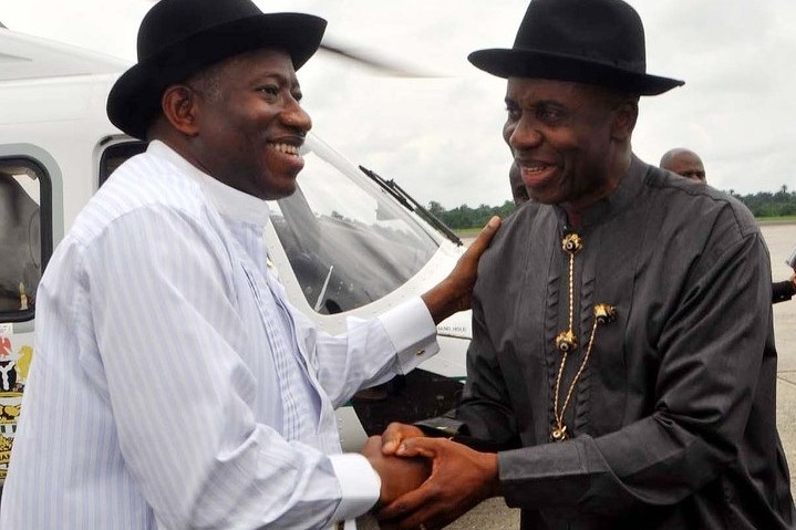 Former President Goodluck Jonathan and Governor Rotimi Amaechi... in Port Harcourt [file]