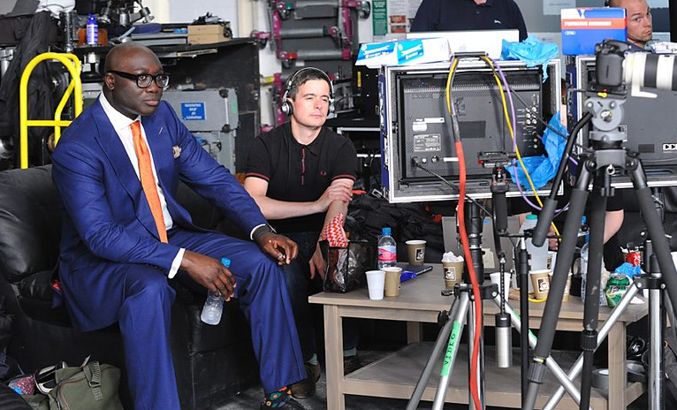 Komla Dumor was on set a day before... Picture: Courtesy BBC