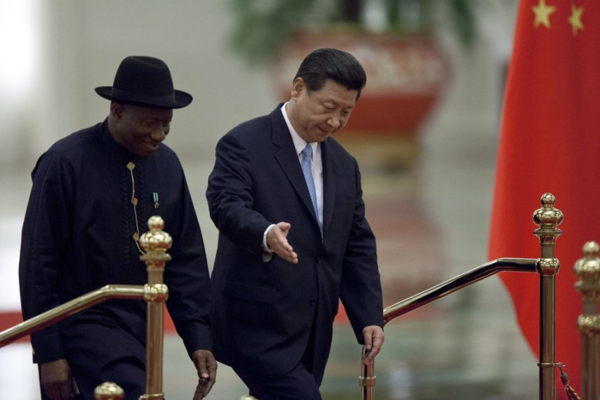 Jonathan with chinese president