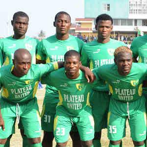 Plateau United line up© Kabiru Abubakar/BackpagePix
