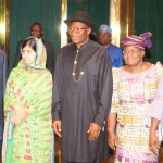 President Goodluck Jonathan only agreed to meet parents of the missing Chibok schoolgirls  after meeting Pakistani Malala
