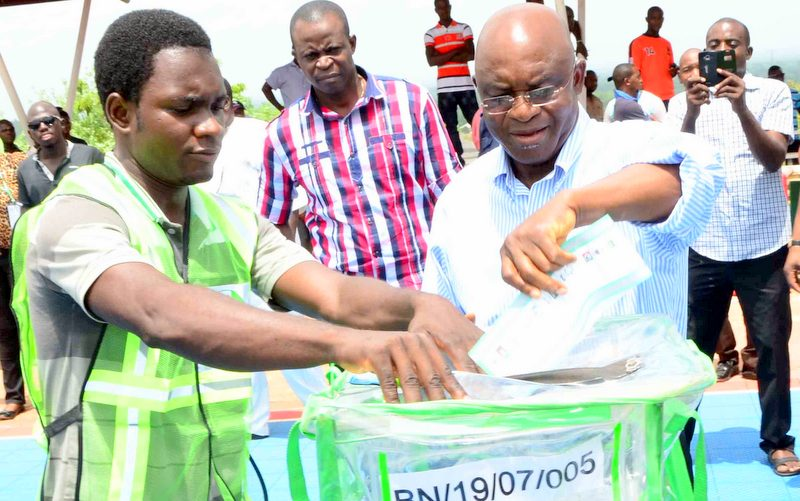 FILE PHOTO: David Mark, voting at the recent elections.