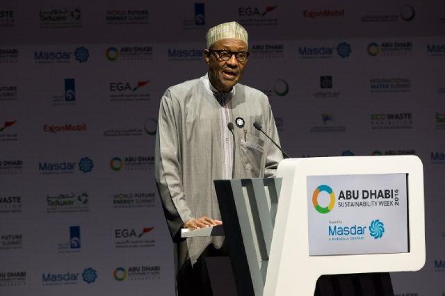 President Muhammadu Buhari in UAE
