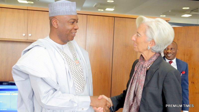 IMF Boss Christine Lagarde with Senate President, Bukola Saraki