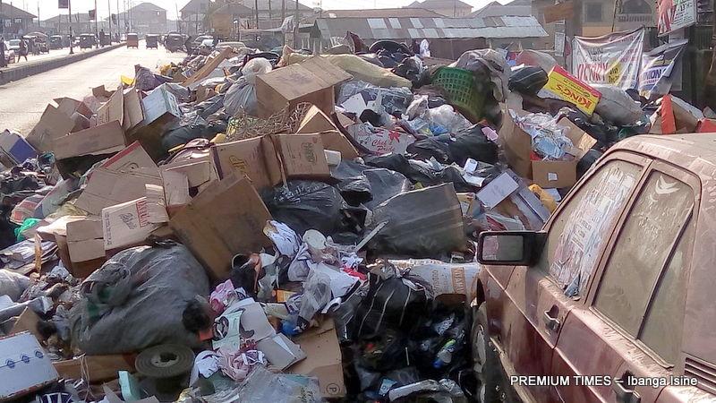 Dump site by Community Secondary School, Kpansio_Epie