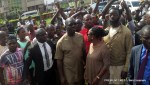 Obaseki queuing up with other voters to cast his vote