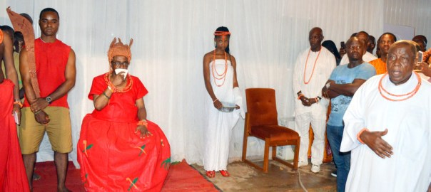 Pic.22. The new Oba of Benin, Omo N'Oba Eheneden Erediauwa at his coronation ceremony in Benin on Thursday (20/10/16). 7852/20/10/2016/Ernest Okorie/BJO/NAN