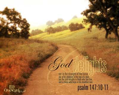 God Delights - Bible Verses and Scripture Wallpaper for Phone or Computer