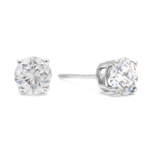 Medium Of 1 Carat Diamond Stud Earrings