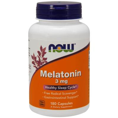 NOW Foods Melatonin 3 mg 180 Caps - Swanson Health Products