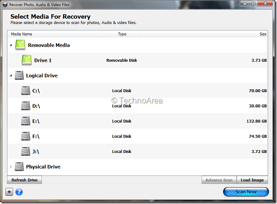 Stellar_Phoenix_Photo_Recovery_Select_Drives