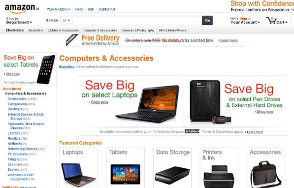 Amazon India Computer Store