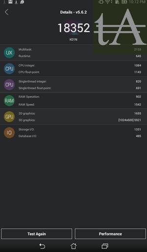 Asus Fonepad 7 FE171CG AnTuTu Benchmark