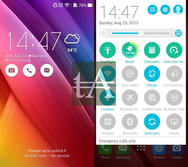 Asus ZenFone Selfie UI