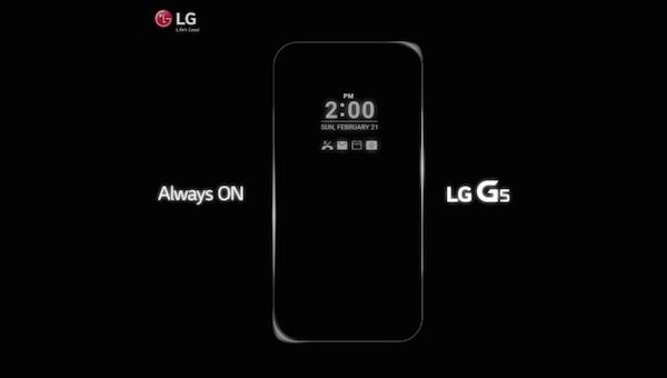 LG G5 Always On Teaser
