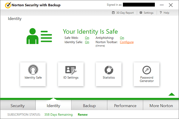 Norton Security With Backup Identity