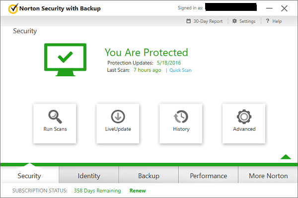 Norton Security With Backup Security