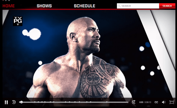 wwe network rock