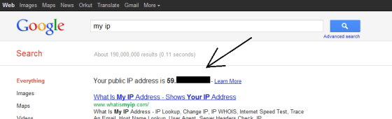 IP Address On Google