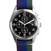 Regimental chrono noir bracelet mauve bleu et vert Spalding, 235€