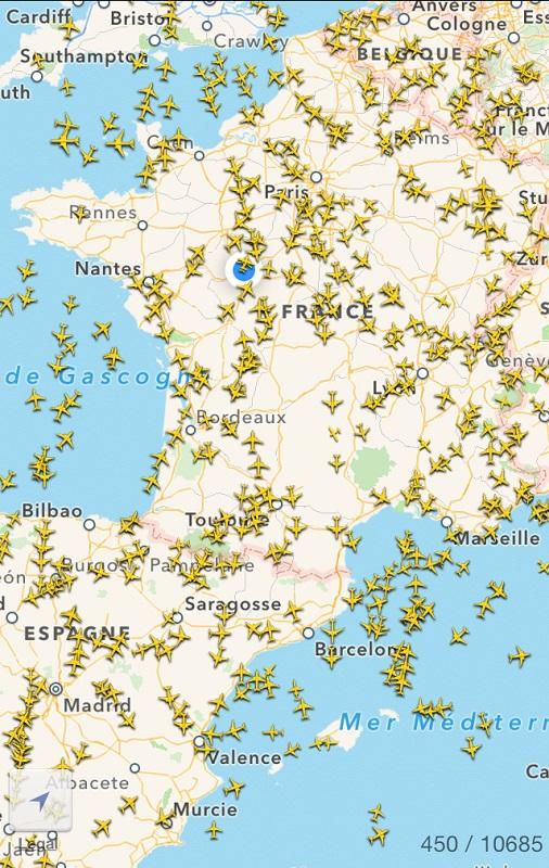 carte de france Flightradar24