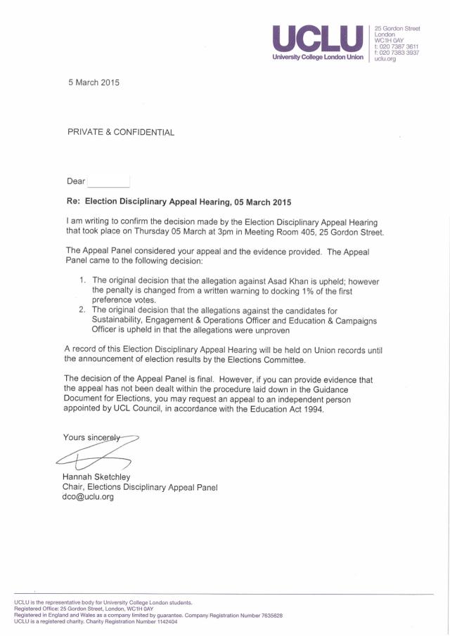 GC outcome letter (EDAH1401)