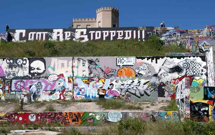 One view of Castle Hill Graffiti Park