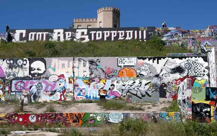 One view of Castle Hill Graffiti Park