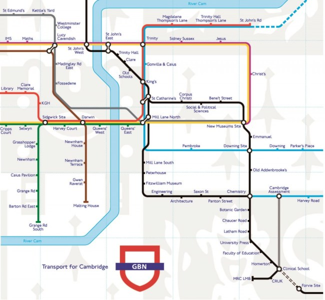 Check out Cambridge's brand new Underground tech-map